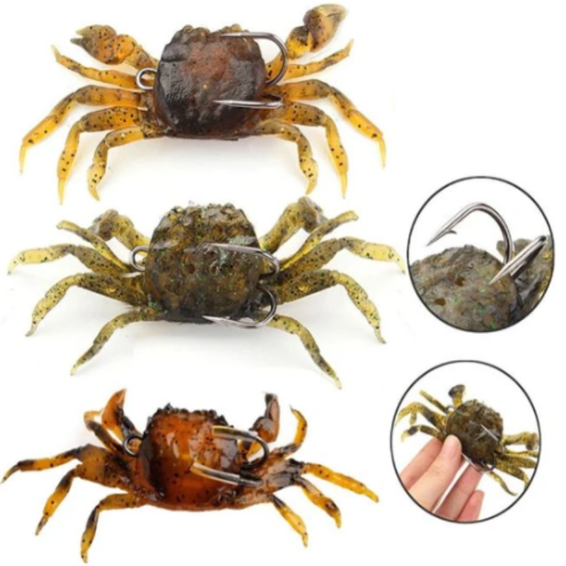 OutdoorCapitol™ Premium 3D Crab Fishing Lure [3PCS]