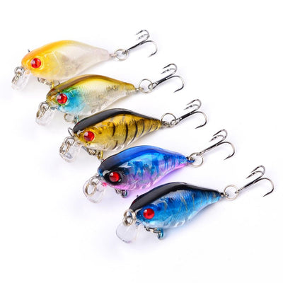 OutdoorCapitol™ Premium Crank Carbon Steel Treble Hook Bait Pack [5PCS]