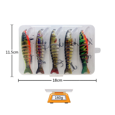 OutdoorCapitol™ Premium Multi Jointed Swimbait Bass Fishing Lures Series
