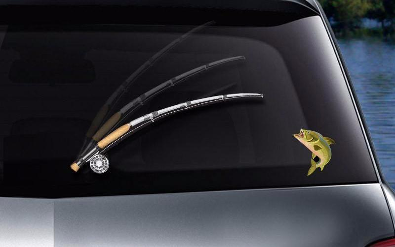 OutdoorCapitol™ Premium Fishing Car Decal