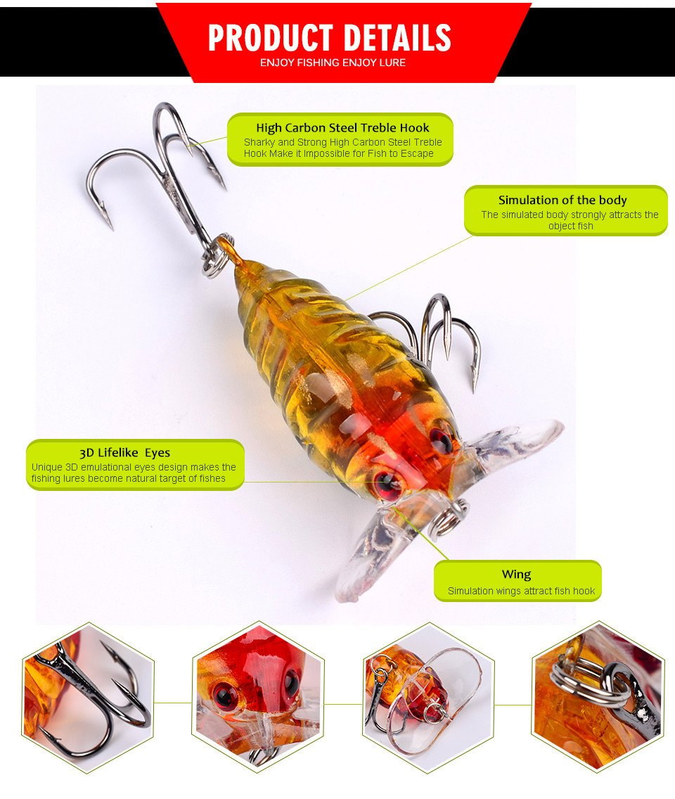 OutdoorCapitol™ Premium Cicada Bass Baits Pack [6PCS]