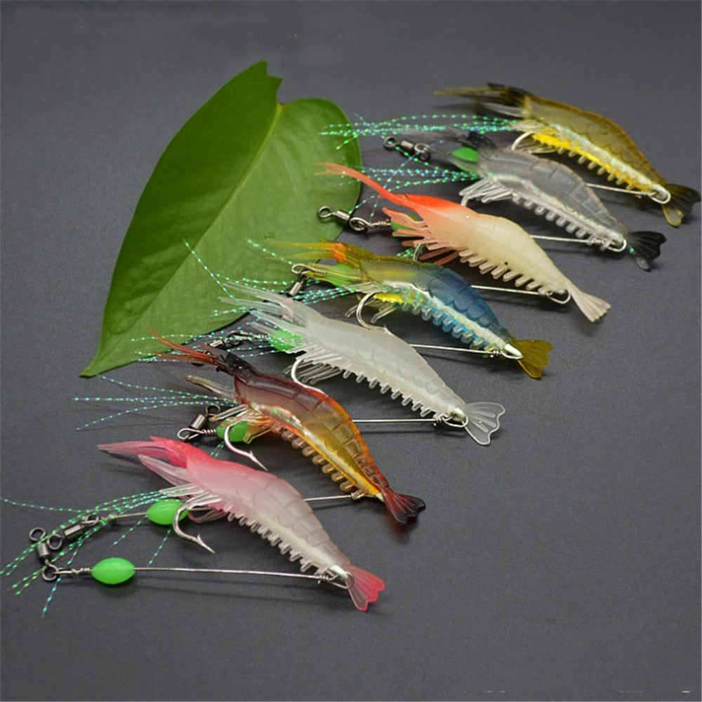 OutdoorCapitol™ Lifelike Luminous Shrimp Lures Set (7 PCS)