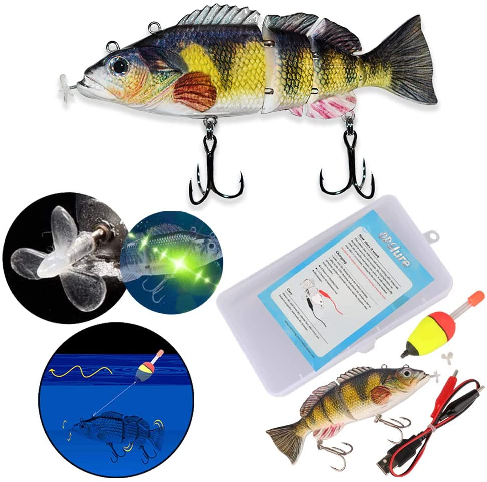 OutdoorCapitol™ Premium Lifelike Robotic Swimming Fishing Lure