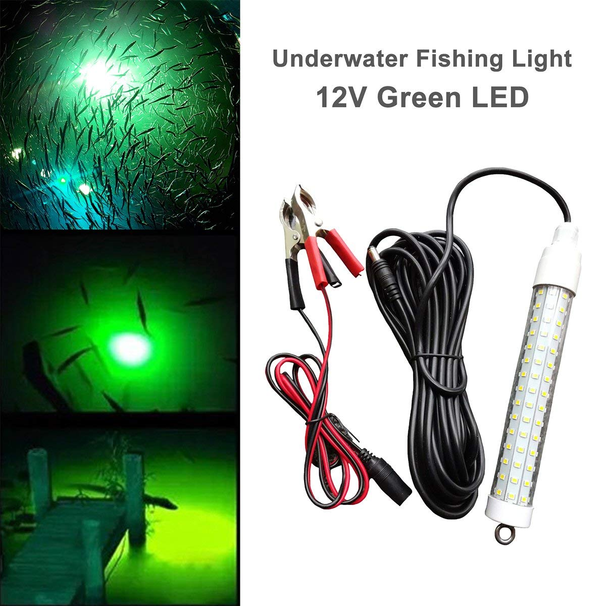 OutdoorCapitol™ 12V Underwater Fishing Light