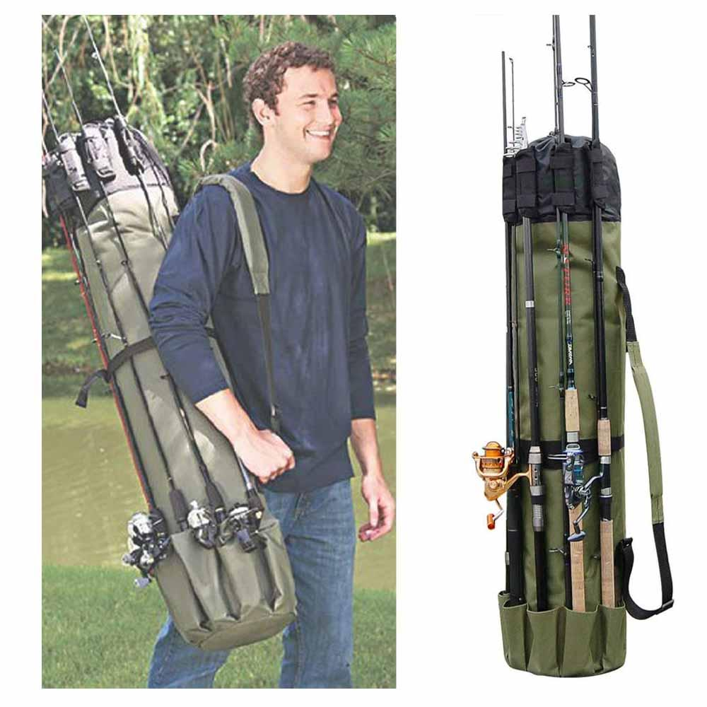 OutdoorCapitol™ Portable Fishing Rod & Tackle Bag