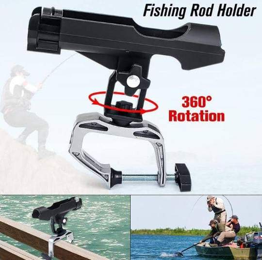 OutdoorCapitol™ 360 Rotation Fishing Rod Holder