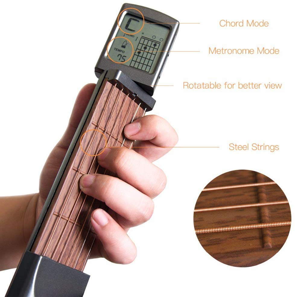 Guilor™ Premium Pocket Guitar Trainers with Chord Screen
