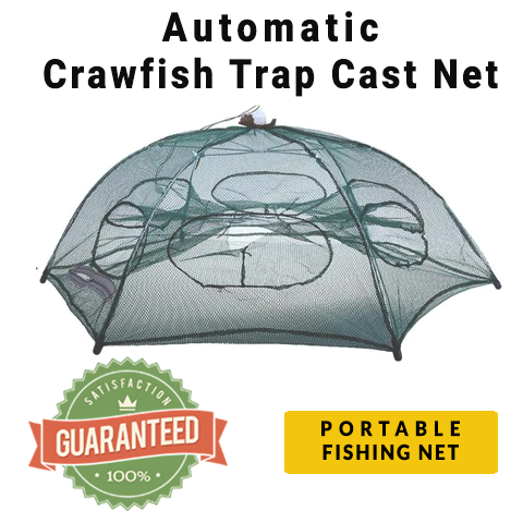 OutdoorCapitol™ AUTOMATIC CRAWFISH TRAP CAST NET