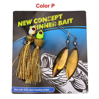 OutdoorCapitol™ Premium Spinner Fishing Lures Pack [4PCS]