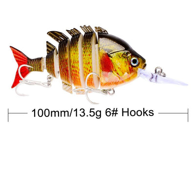 OutdoorCapitol™ Premium Multi Jointed Swimbait Bass Perch Fishing Lures Series