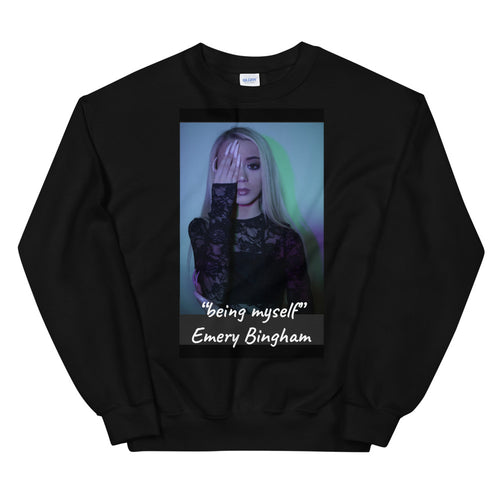"Unisex Sweatshirt ""being myself"" single"
