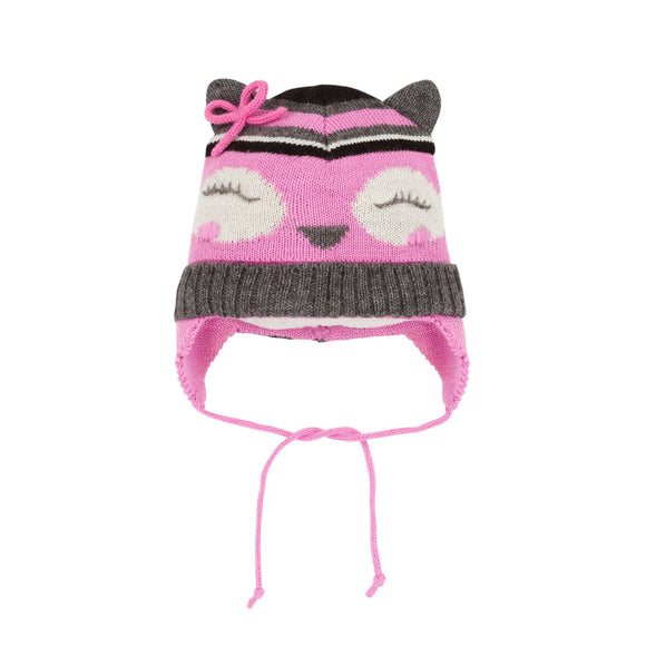 tuque hibou rose A10ZA01G