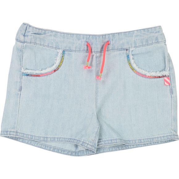 short denim pour fille