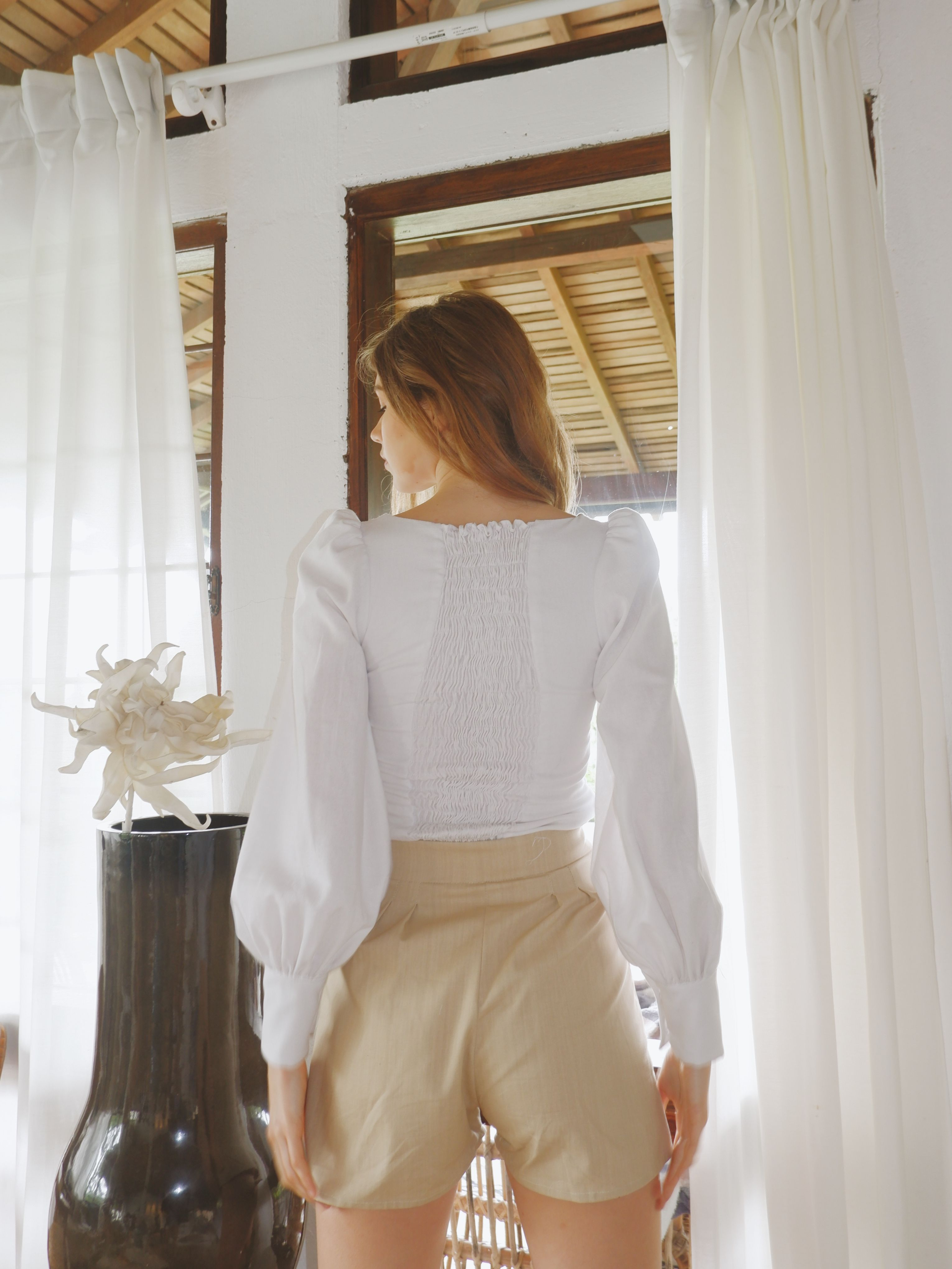 ZUCCA TOP IN WHITE