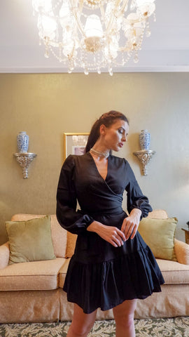 NIVALIS DRESS IN BLACK