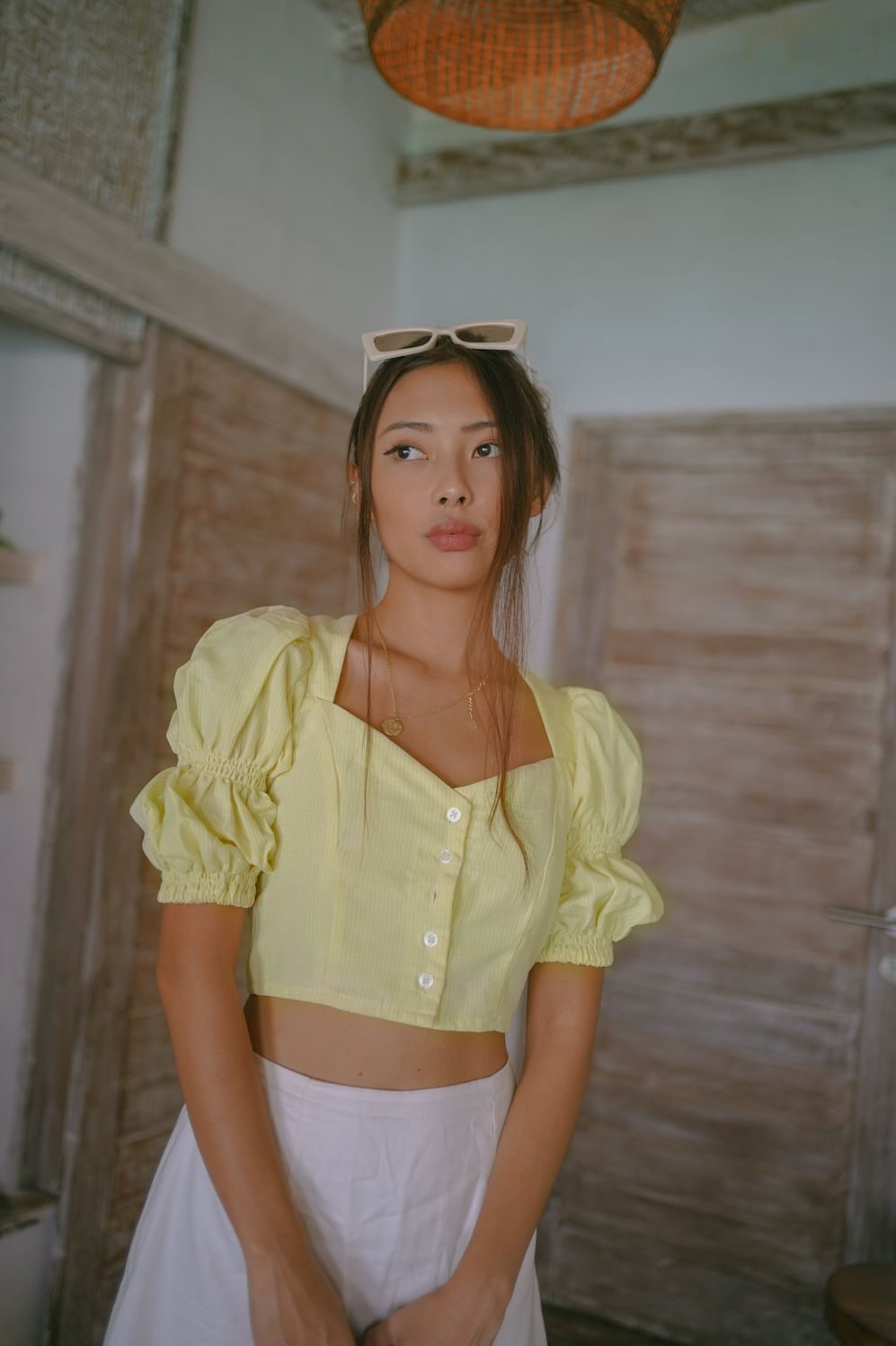 GILL TOP IN YELLOW