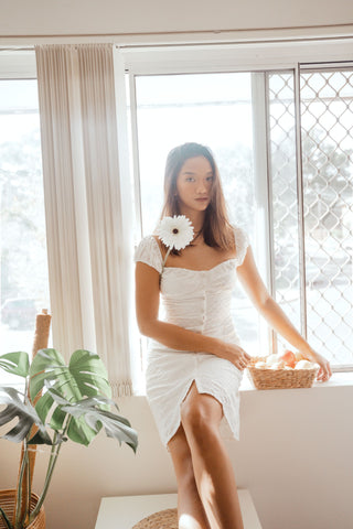 COTORRO DRESS IN WHITE