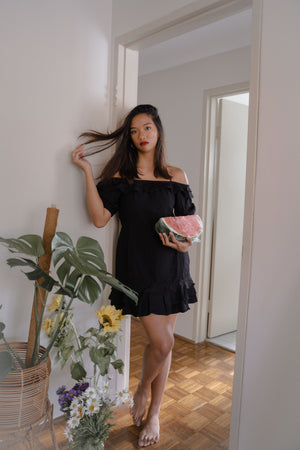 IRIS DRESS IN BLACK