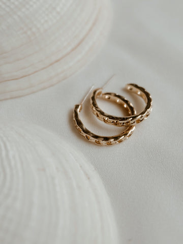 Jules Hoops Earrings