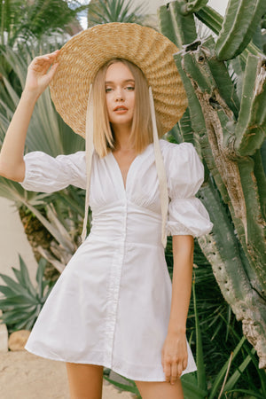 GAILETTE DRESS IN WHITE