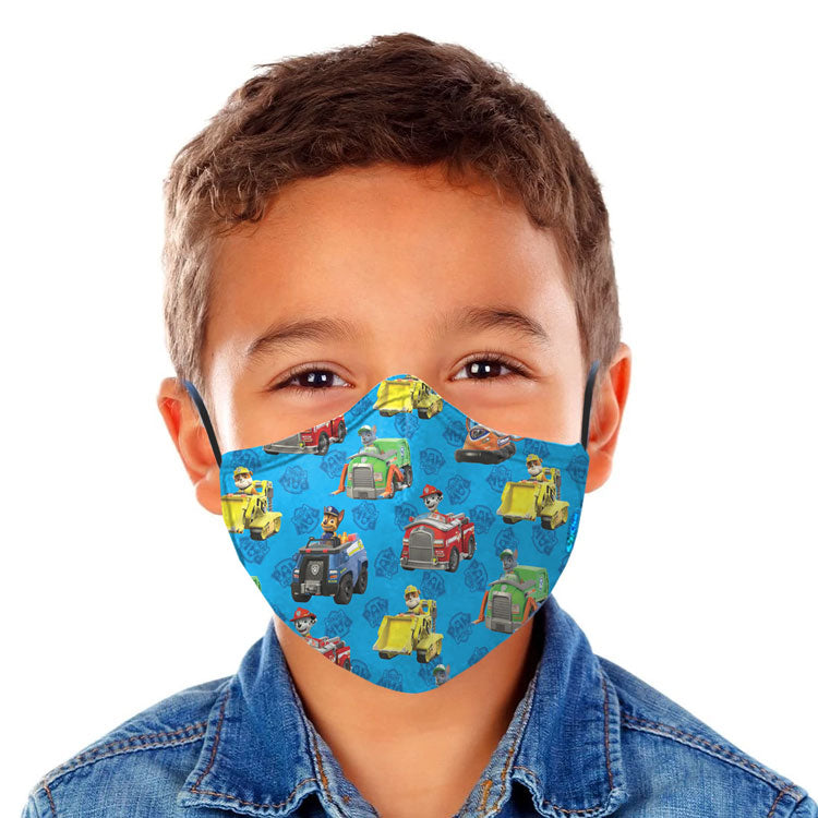 OxiClear Kids N99 Pollution Mask with 4 Activated Carbon Filters, Washable & Reusable, D.R.D.O Certified (Paw Patrol)