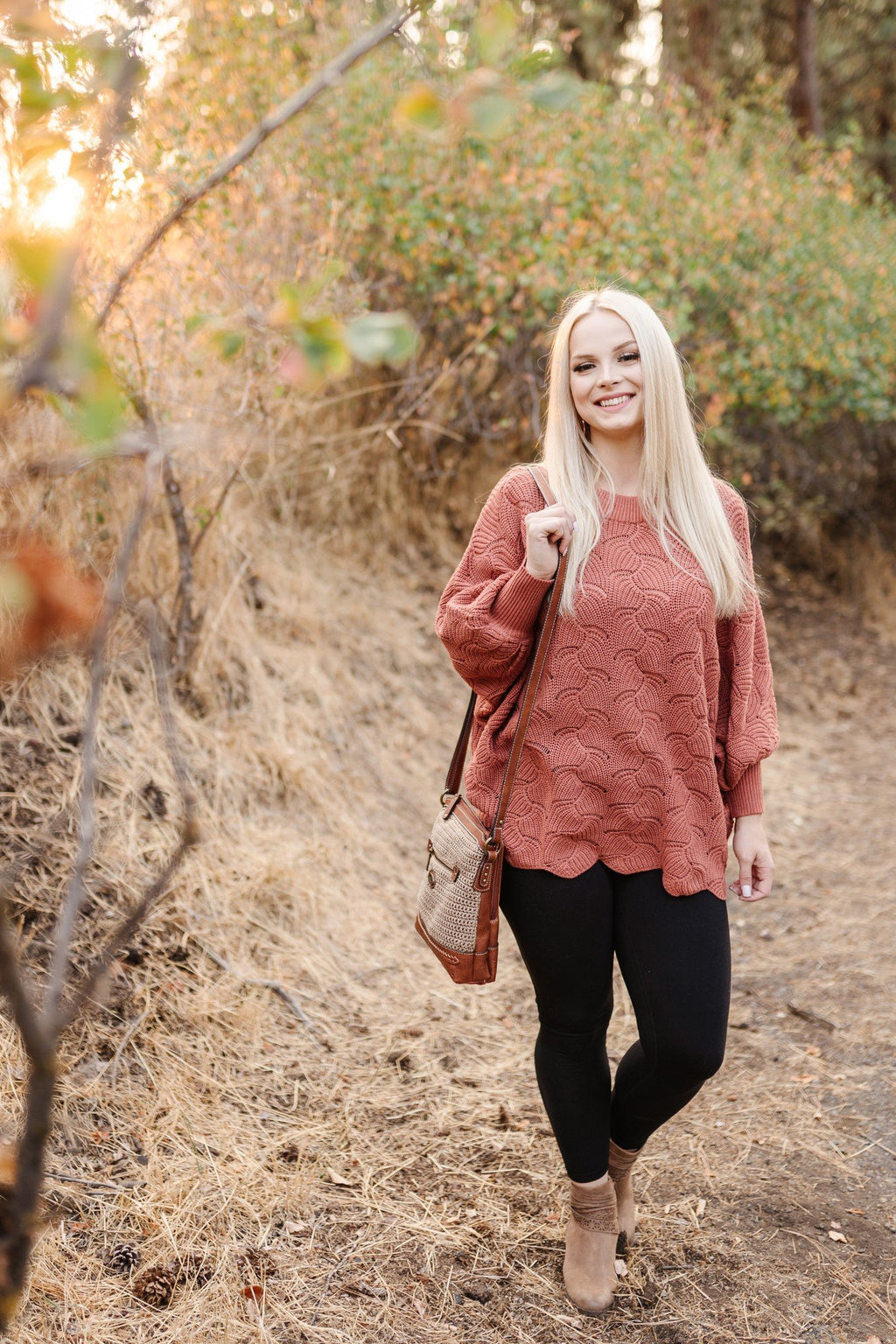Seasons of Change in Ginger Dolman Sweater