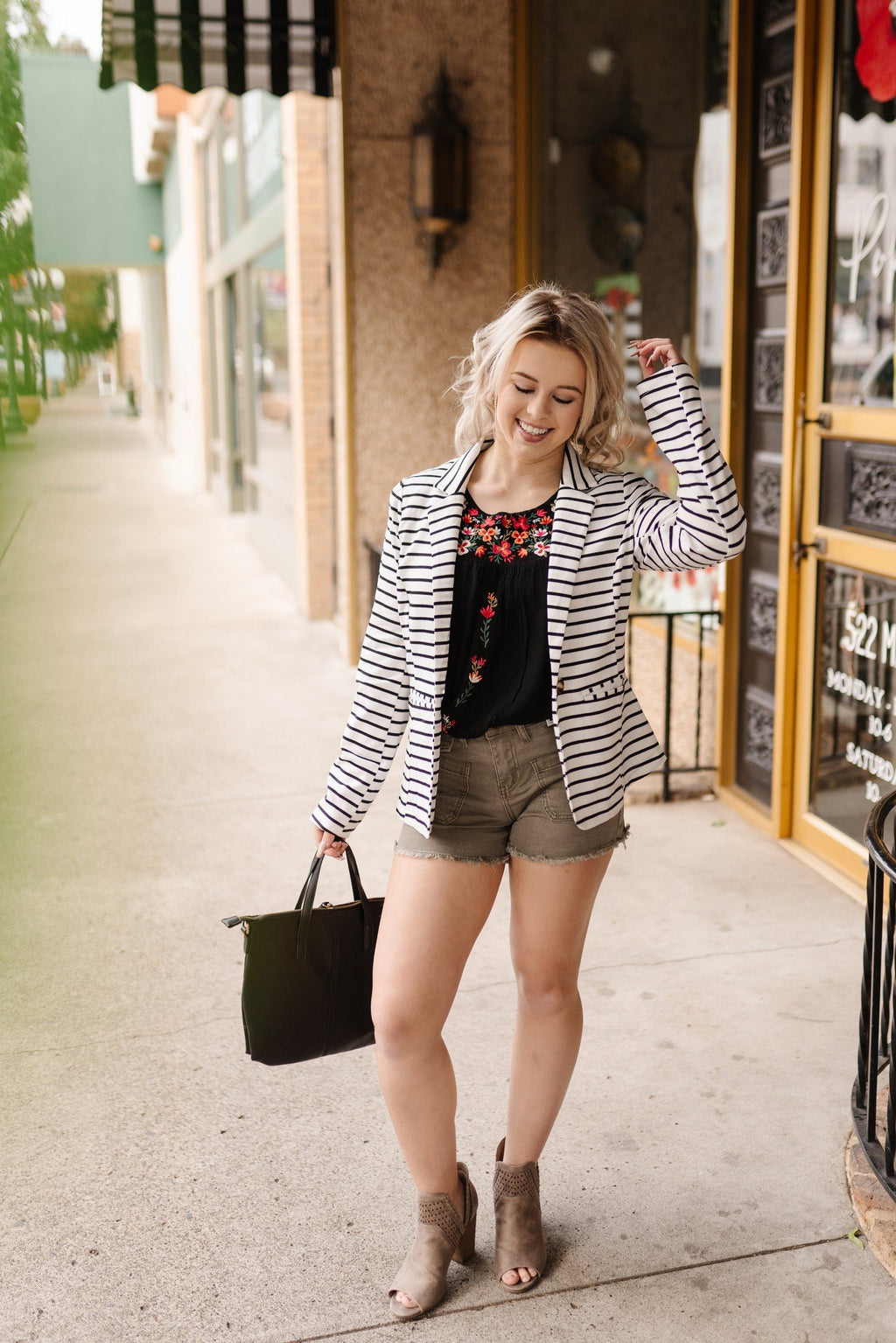 Ivory and Black Summer Jacket