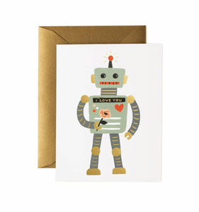 I LOVE YOU ROBOT CARD