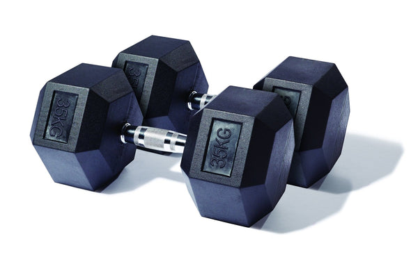 25kg to 35kg Rubber Hex Dumbbell Pack - Macarthur Fitness Equipment