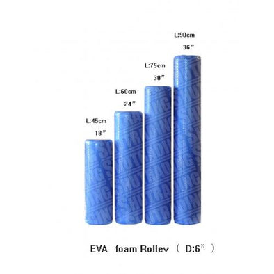 "EVA 6"" X 18"" Blue Foam Roller - Macarthur Fitness Equipment"