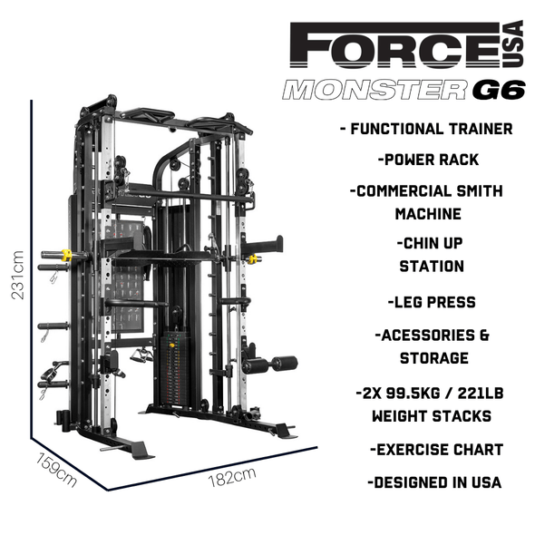 Force USA G6 All-In-One Trainer - Macarthur Fitness Equipment