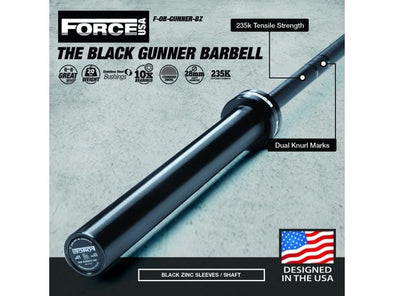 Force USA The Gunner Barbell Black Zinc Barbell - Macarthur Fitness Equipment