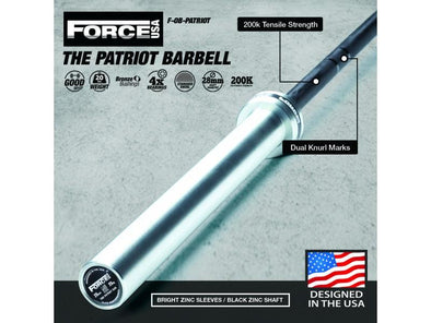 Force USA The Patriot Barbell - Macarthur Fitness Equipment
