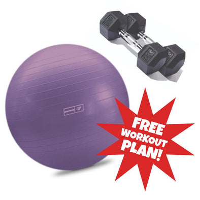 Home Fitness Package #4 - Balance Ball and Dumbbells - Macarthur Fitness Equipment