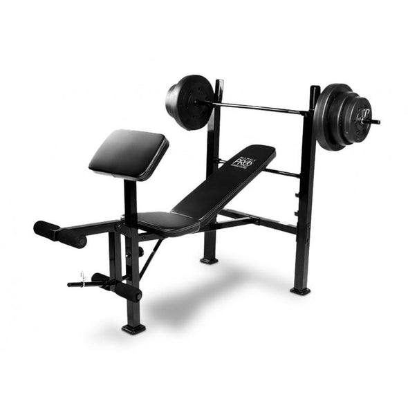 MARCY PRO WEIGHT BENCH WITH WEIGHT SET - Macarthur Fitness Equipment