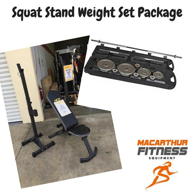 Squat Stand Weight Set Package - Macarthur Fitness Equipment
