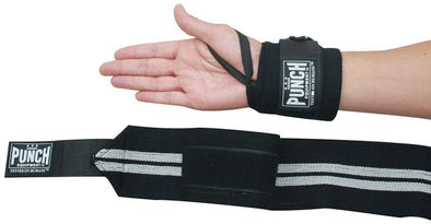 WRIST WRAPS - PR BLACK - Macarthur Fitness Equipment