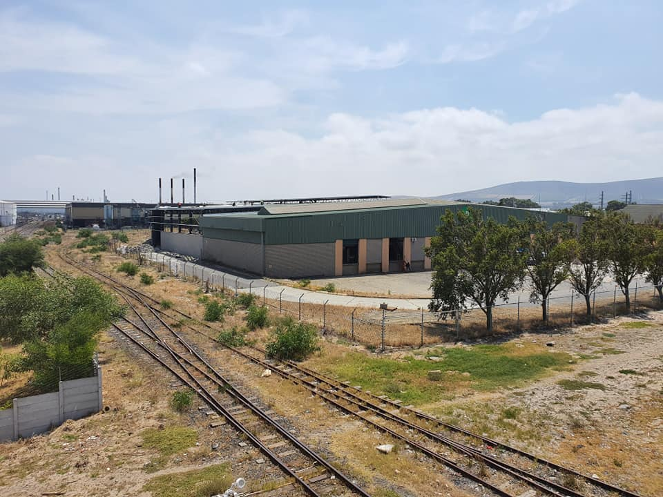View from Link Road of new factory next to Railway tracks in Montague Gardens , Cape Town