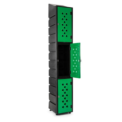 3 Tier Ecolite Locker Slanted - Path Plastics Cape Town