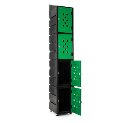 4 Tier Ecolite Locker Slanted - Path Plastics Cape Town