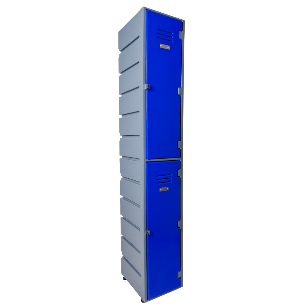 2 TIER PLASTIC LOCKER FLAT SOLID DOORS - Path Plastics Cape Town