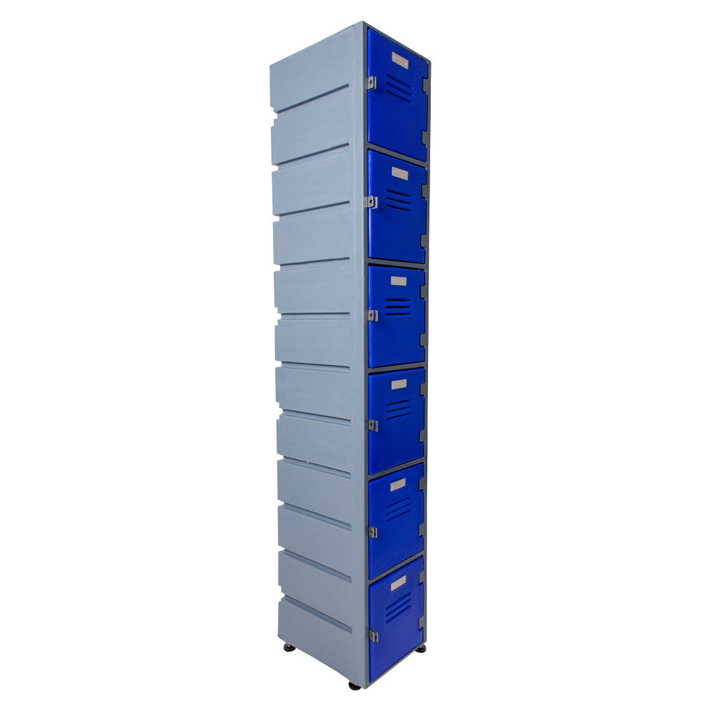 6 Tier Locker Flat Solid Doors - Path Plastics Cape Town