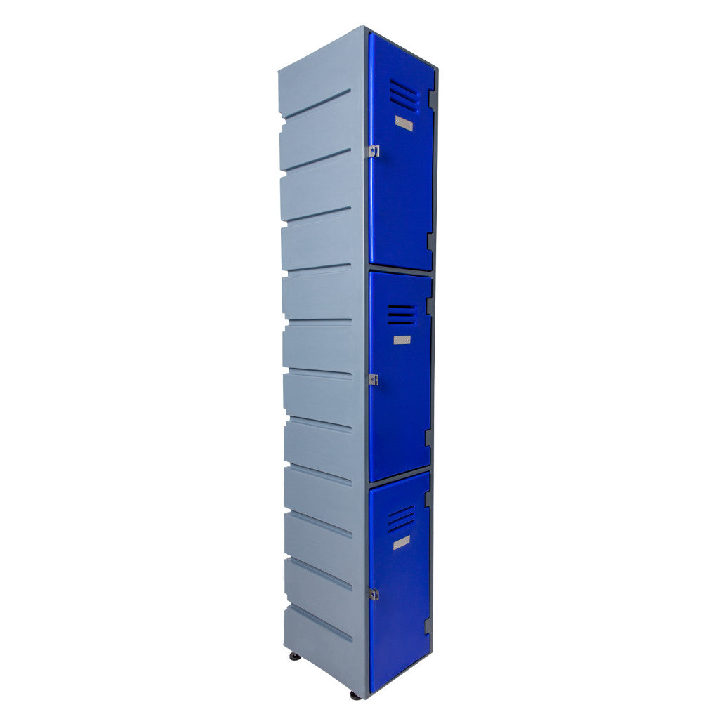 3 Tier Locker Flat Solid doors - Path Plastics Cape Town