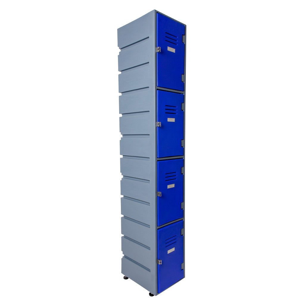 4 Tier Lockers Flat Solid doors - Path Plastics - Path Plastics Cape Town