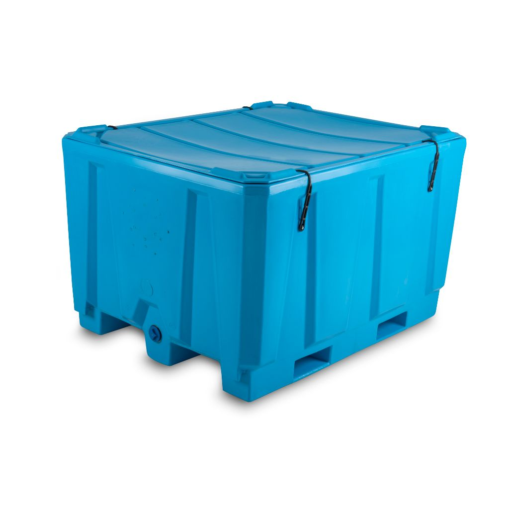 PT1000i -Plastic Bulk Bin Insulated with Lid - Path Plastics Cape Town