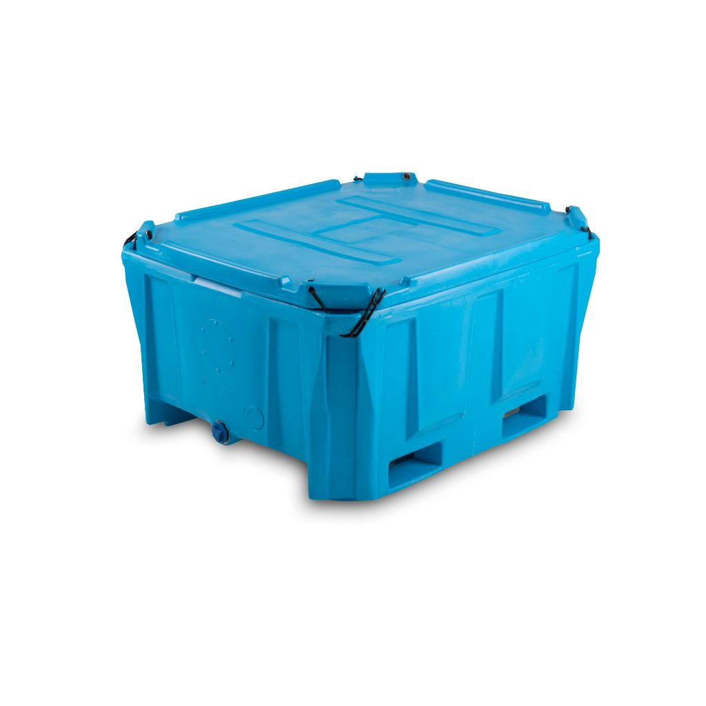 PT500i Plastic Bulk Bin Insulated with Lid - Path Plastics Cape Town