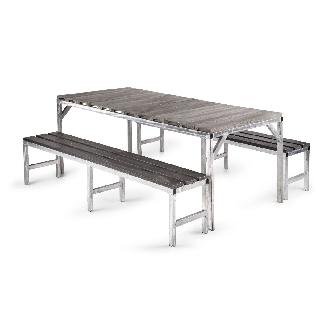 Table with solid top and benches - Path Plastics Cape Town