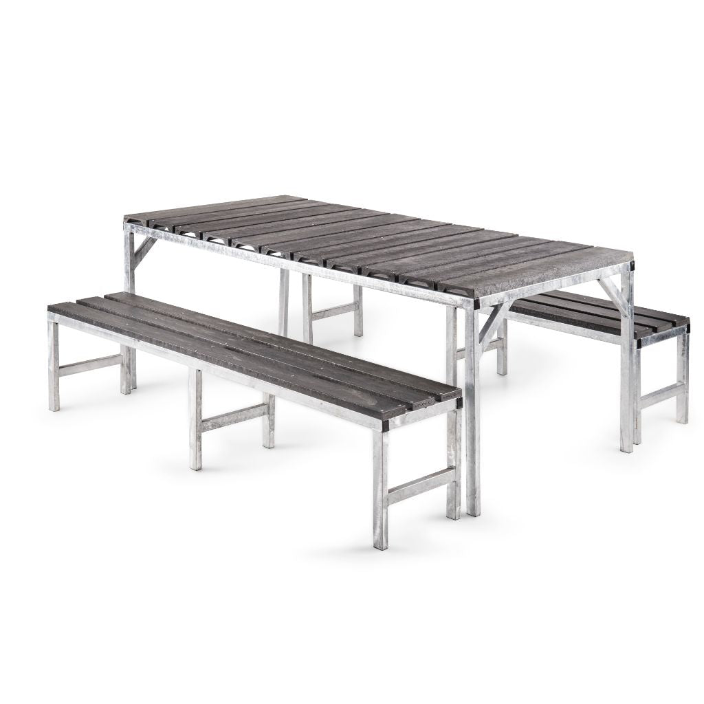 Table with gap top and benches - Path Plastics Cape Town