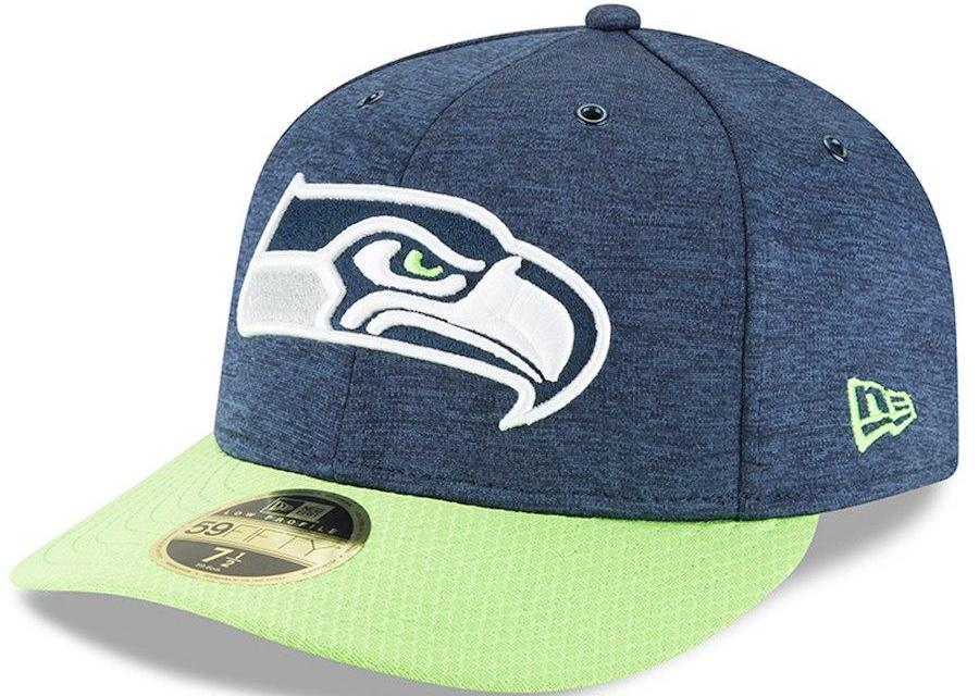 673bd9049 New Era Mens Seattle Seahawks 5950 Low Pro Onfield 18 Team Color ...