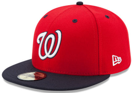 free shipping db786 75864 New Era Mens 5950 ACPerf Washington Nationals Alt4 Game Fitted Hat